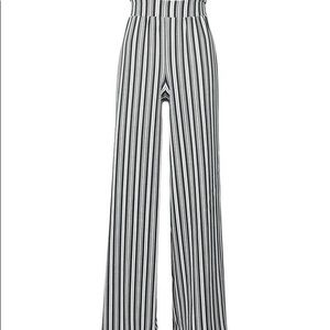 Tall striped trousers